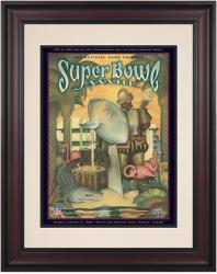 """1999 Broncos vs Falcons 10.5"""" x 14"""" Framed Super Bowl XXXIII Program"""