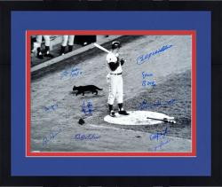 "Framed 1969 Chicago Cubs Teams Autographed 16"" x 20"" Photograph with 10 Signatures"