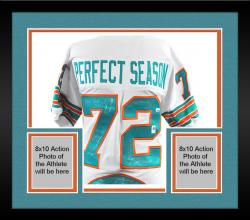 Framed 1972 Miami Dolphins 40th Anniversary Edition Autographed White Jersey