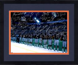 "Framed 1985 Chicago Bears Team Signed 16"" x 20"" Sideline Photograph with 30 Signatures"