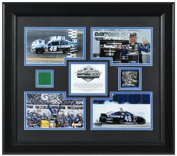 Johnson, Jimmie Framed (2013 Daytona 500) 4-photo/track/flag
