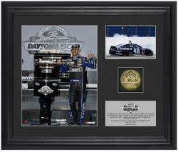 Jimmie Johnson 2013 Daytona 500 Framed Collectible with 6 x 8 Photo and Coin