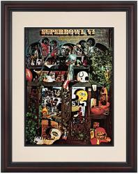 "1972 Cowboys vs Dolphins 8.5"" x 11"" Framed Super Bowl VI Program"