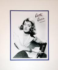 Framed 8x10 Photograph - Autographed by Bette Davis