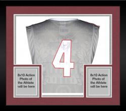 Framed Aaron Craft Ohio State Buckeyes Autographed Replica Red Jersey