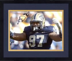 "Framed Aaron Donald Pittsburgh Panthers Autographed 8"" x 10"" Hands Up Photograph"