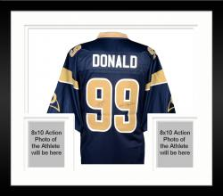Framed Aaron Donald St. Louis Rams Autographed Nike Game Jersey with 2014 1st Round Pick Inscription