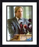 """Framed Aaron Eckhart Autographed 8"""" x 10"""" The Dark Knight Photograph - Beckett COA"""