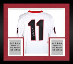Framed Aaron Murray Georgia Bulldogs Autographed White Game Jersey