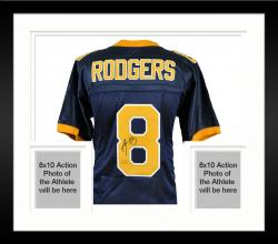 Framed Aaron Rodgers California Golden Bears Autographed Navy Nike Jersey