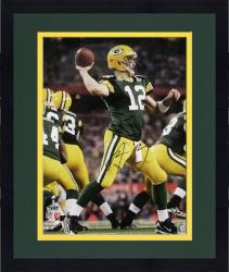 "Framed Aaron Rodgers Green Bay Packers Super Bowl XLV Autographed 16"" x 20"" Passing Photograph"