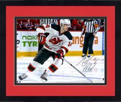 "Framed Adam Henrique New Jersey Devils Autographed Horizontal Skating 16"" x 20"" Photograph"