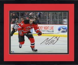 "Framed Adam Henrique New Jersey Devils Autographed Horizontal Skating 8"" x 10"" Photograph"