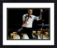 "Framed Adam Levine Autographed 11"" x 14"" On Knees Singing Photograph - PSA/DNA"