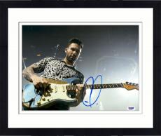 "Framed Adam Levine Autographed 11"" x 14"" Playing Guitar Photograph - PSA/DNA"
