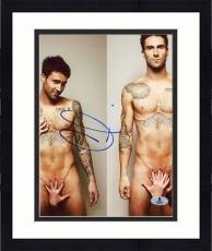 "Framed Adam Levine Autographed 8"" x 10"" Dual Nude Photograph - Beckett COA"