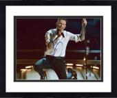 "Framed Adam Levine Autographed 8"" x 10"" On One Knee Photograph - Beckett COA"