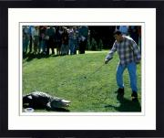 "Framed Adam Sandler Autographed 11"" x 14"" Happy Gilmore Pointing at Gator Photograph - PSA/DNA"
