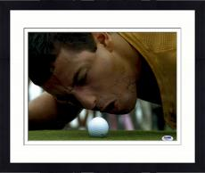 """Framed Adam Sandler Autographed 11"""" x 14"""" Happy Gilmore Yelling at Ball Photograph - PSA/DNA"""