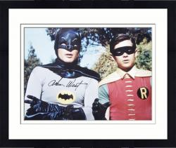 "Framed Adam West Autographed 16"" x 20"" with Robin Photograph"