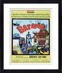 Framed Adam West Autographed Movie Poster