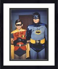 "Framed Adam West & Burt Ward Dual Autographed 16"" x 20"" Robin Hand Close Photograph"