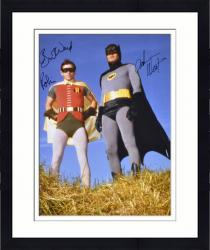 "Framed Adam West & Burt Ward Dual Autographed 16"" x 20"" Outside In Grass Photograph"