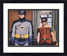 "Framed Adam West & Burt Ward Dual Autographed 16"" x 20"" Window in Background Photograph"