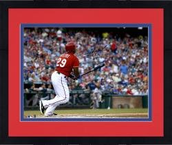 "Framed Adrian Beltre Texas Rangers Autographed 16"" x 20"" Ball Watch Photograph"