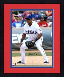 "Framed Adrian Beltre Texas Rangers Autographed 16"" x 20"" Field Position Photograph"