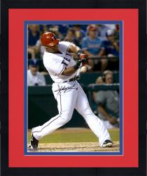"Framed Adrian Beltre Texas Rangers Autographed 16"" x 20"" Red Helmet Photograph"