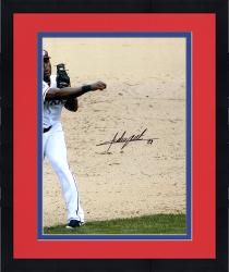 "Framed Adrian Beltre Texas Rangers Autographed 16"" x 20"" Throw With Ball Photograph"