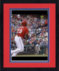 Framed Adrian Beltre Texas Rangers Autographed 8'' x 10'' Ball Watch Photograph - Mounted Memories