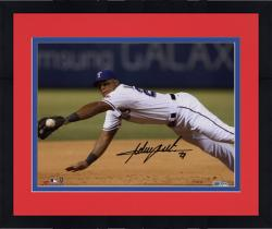 "Framed Adrian Beltre Texas Rangers Autographed 8"" x 10"" Dive For Ball Photograph"