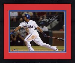 "Framed Adrian Beltre Texas Rangers Autographed 8"" x 10"" Horizontal White Hitting Photograph"