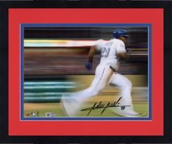 "Framed Adrian Beltre Texas Rangers Autographed 8"" x 10"" Motion Effect Photograph"