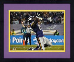 "Framed Adrian Peterson Minnesota Vikings Autographed 16"" x 20"" Horizontal On Knees Photograph"