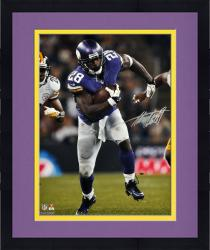 Framed Adrian Peterson Minnesota Vikings Autographed 16'' x 20'' Running vs Pittsburgh Steelers Photograph