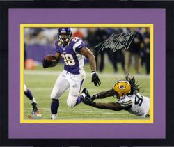 Framed Adrian Peterson Minnesota Vikings Autographed 8'' x 10'' Action Photograph