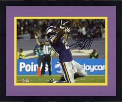 "Framed Adrian Peterson Minnesota Vikings Autographed 8"" x 10"" Horizontal On Knees Photograph"