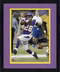 """Framed Adrian Peterson Minnesota Vikings Autographed 8"""" x 10"""" Photograph with """"All Day"""" Inscription"""