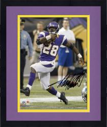 Framed Adrian Peterson Minnesota Vikings Autographed 8'' x 10'' Run Photograph