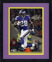 "Framed Adrian Peterson Minnesota Vikings Autographed 8"" x 10"" Vertical Running Photograph"