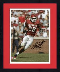 "Framed Adrian Peterson Oklahoma Sooners Autographed 8"" x 10"" Vertical Crimson Uniform Photograph"