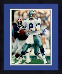 Framed Troy Aikman Autographed Cowboys 16x20 Photo