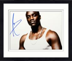 Framed Akon Autographed 11'' x 14'' Tank Top Photograph
