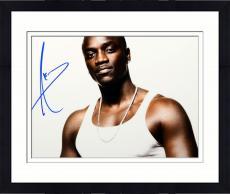Framed Akon Autographed 11'' x 14'' Tank Top Photograph