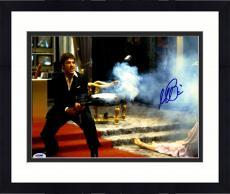 "Framed Al Pacino Autographed 11"" x 14"" Scarface Shooting Enemies Photograph - PSA/DNA COA"