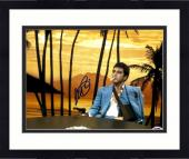 """Framed Al Pacino Autographed 11"""" x 14"""" Scarface Sitting Pointing Gun Smoking Cigarette Photograph - PSA/DNA COA"""