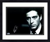 "Framed Al Pacino Autographed 11"" x 14"" The Godfather Photograph - Beckett COA"